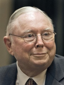 Charles Munger, Vice Chairman of Berkshire Hathaway