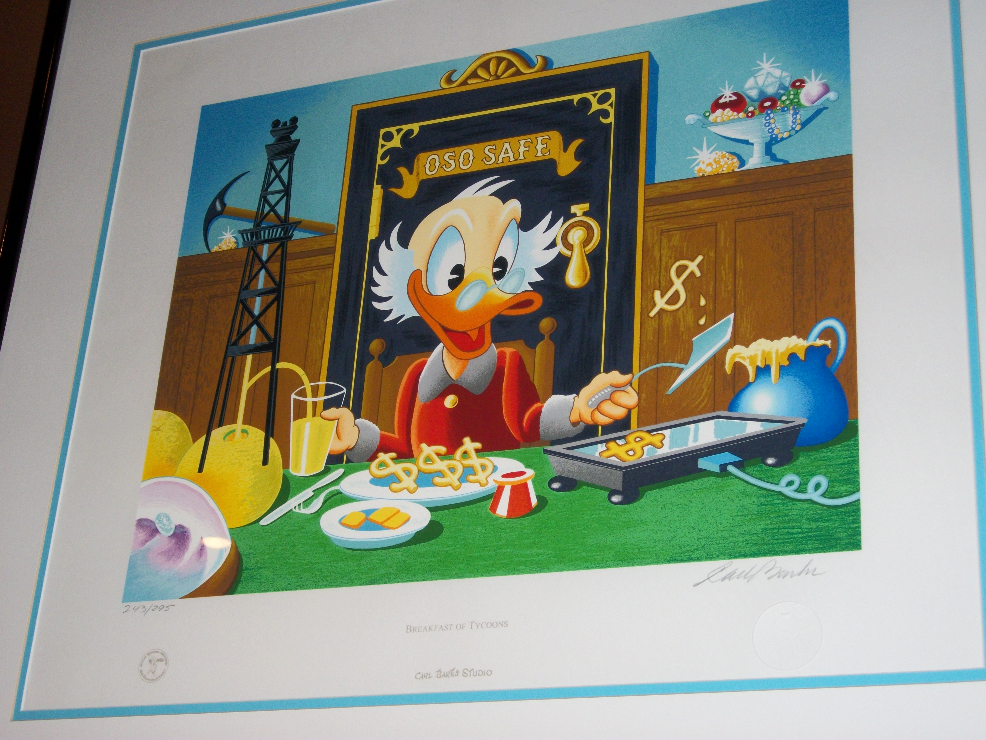 Breakfast of Tycoons - Carl Barks Scrooge McDuck Art