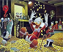Carl Barks Scrooge McDuck Money Bin Celebration