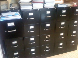 File Cabinets with Stock Reports
