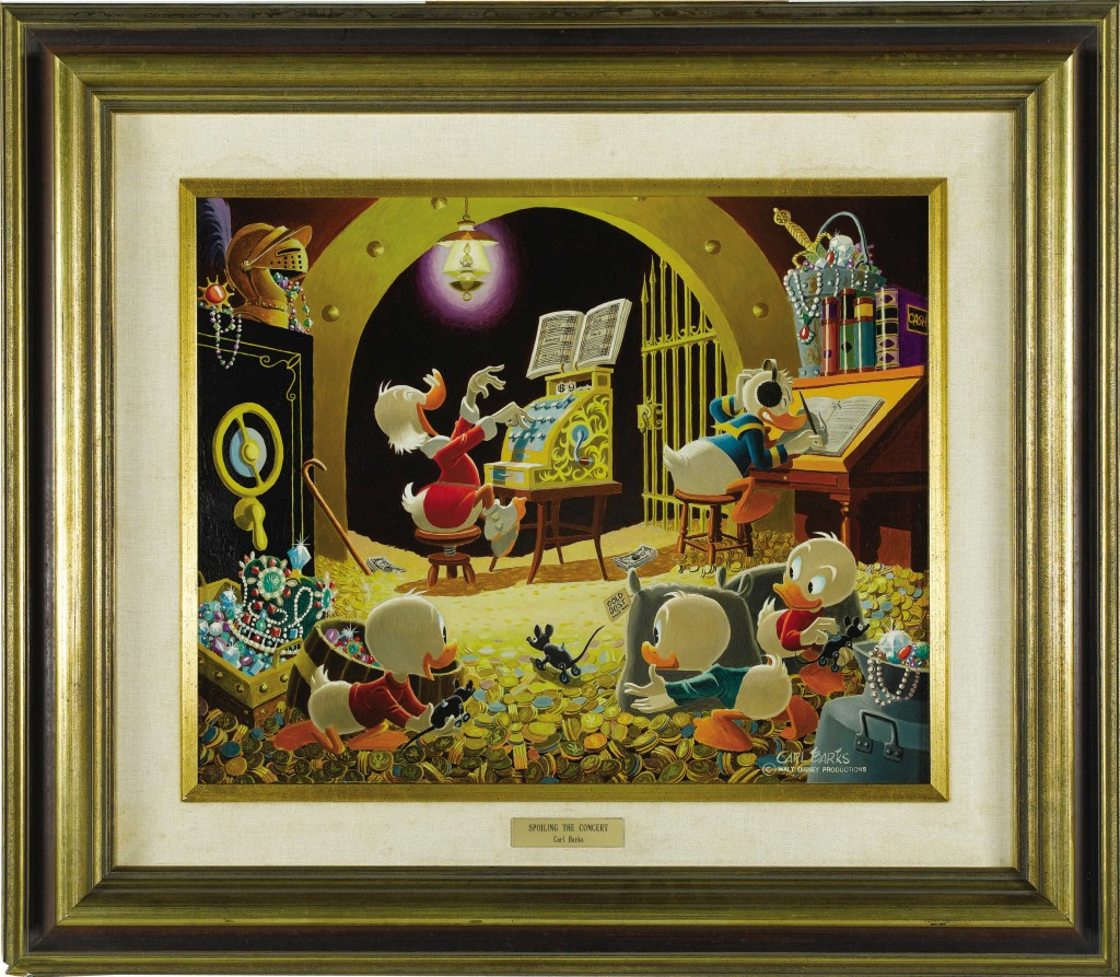 Spoiling the Concert by Carl Barks - A Scrooge McDuck Painting