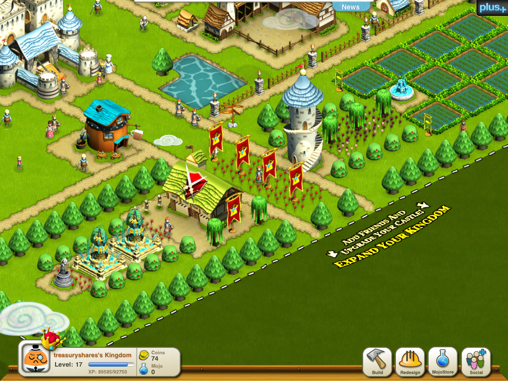 French Style Gardens in Ngmoco We Rule Kingdom for iPad