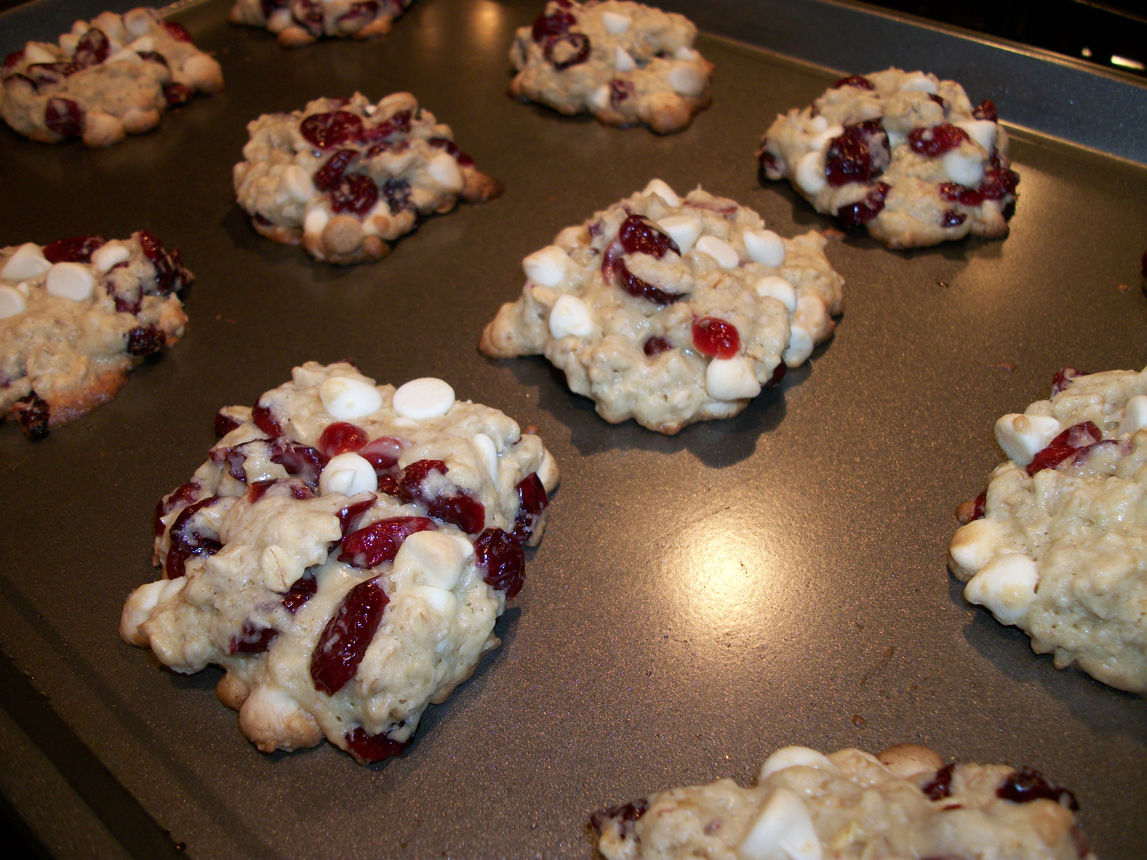 White Chocolate Oatmeal Cookies with Cranberries