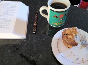 Blueberry Muffin with Black Coffee and Atlas Shrugged by Ayn Rand - The Perfect Breakfast