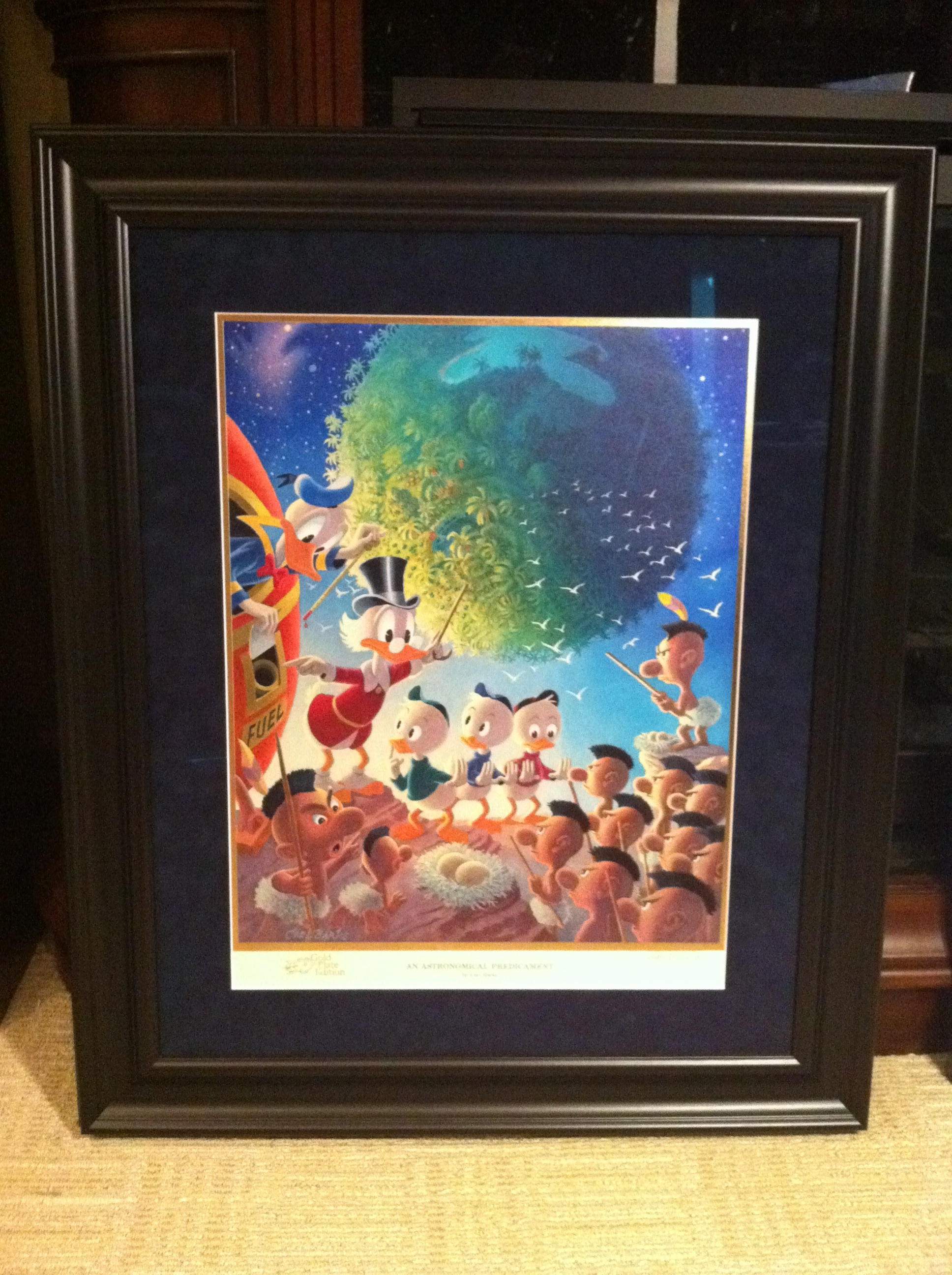 Carl Barks for Office Gold Plate