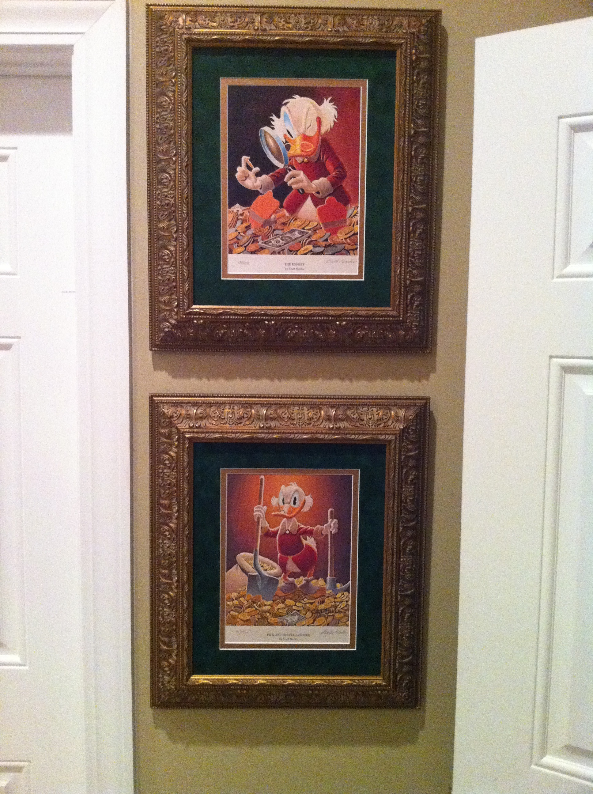Carl Barks Art for Office of Scrooge McDuck