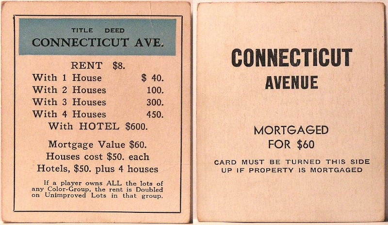 Connecticut Avenue Monopoly