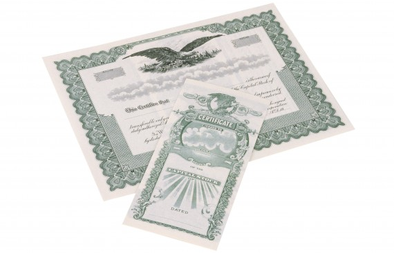 Holding Company Stock Certificate