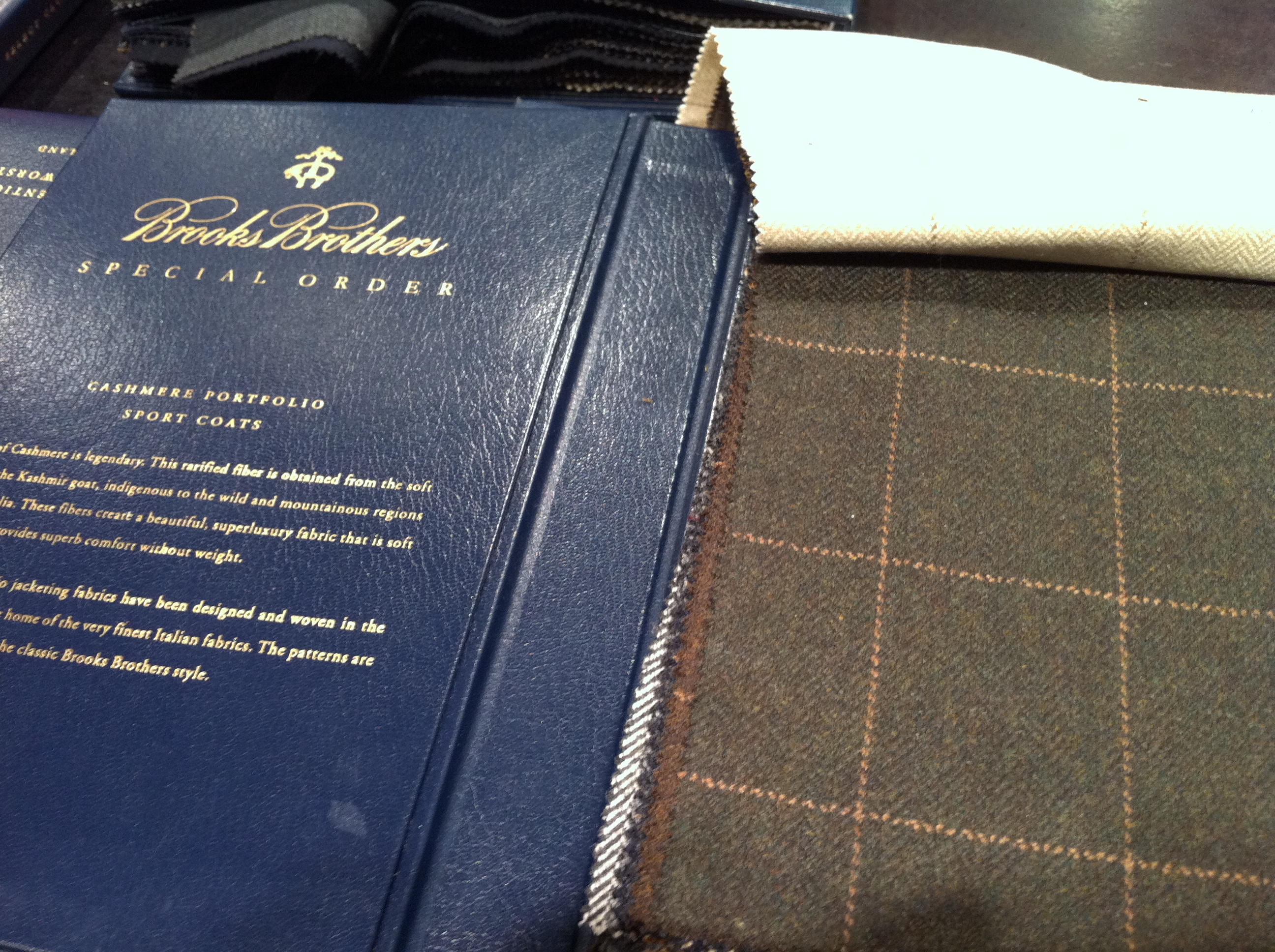 Cashmere Sports Coat Fabrics from Brooks Brothers