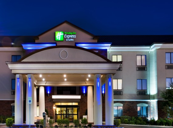 Holiday Inn Express at Night
