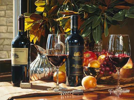 """Eric Christensen Hyperrealism """"Up for Discussion"""" Painting"""