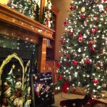 The Christmas Tree and Fireplace at Mom and Dads