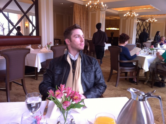 Aaron In the Hotel Restaurant