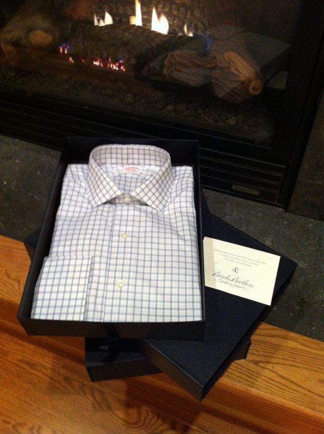Aaron's Made to Measure Brooks Brothers Shirt Box