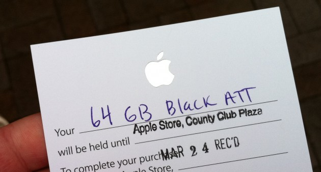 Apple iPad Ticket