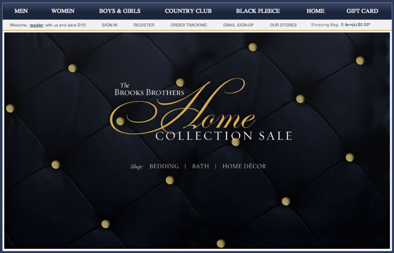 Brooks Brothers Home Collection