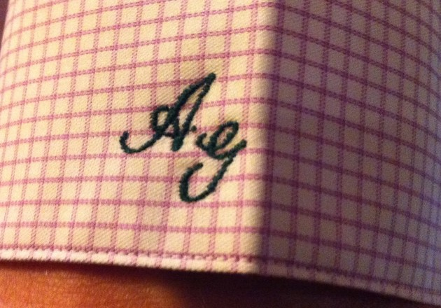 Monogrammed Shirt Cuff Brooks Brothers