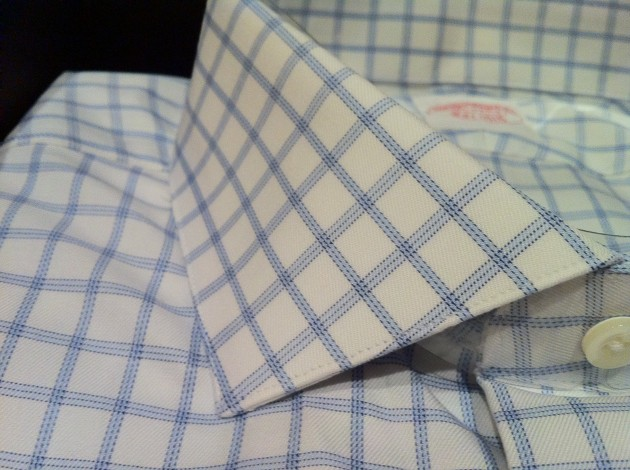 Closeup of Aaron's Second Brooks Brothers Custom Shirt