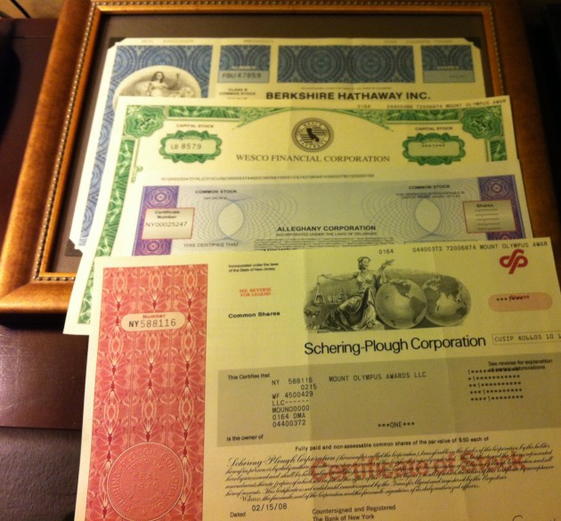 Stock Certificates Joshua Kennon