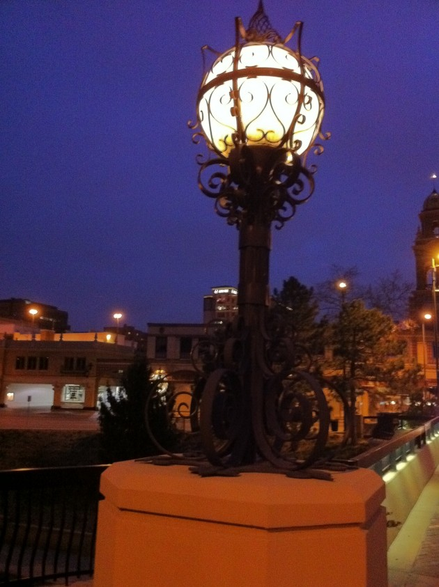 The Lamps on the Bridge at the Country Club Plaza in Kansas City