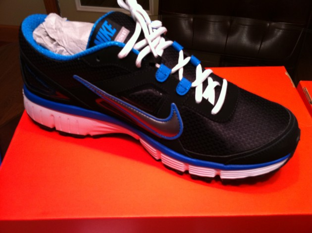 Blue and Black Nike Running Shoes