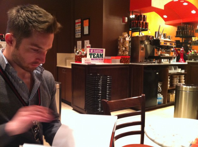 Aaron at Jacques Torres Chocolates