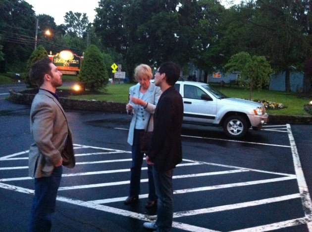 After Dinner in the Parking Lot of the Harvest Moon Inn