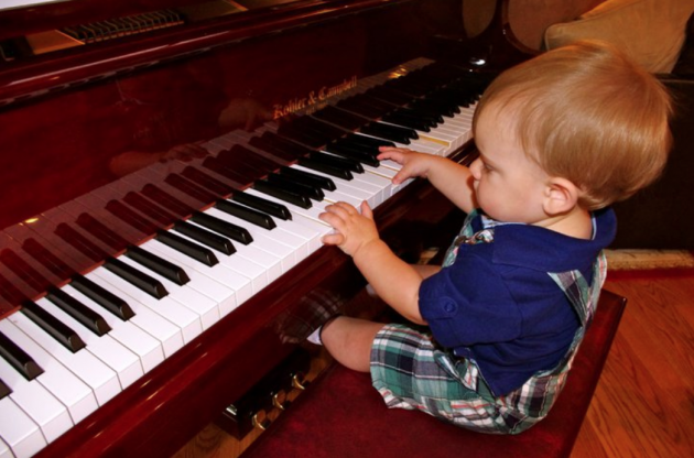 Baby CJ Playing the Piano