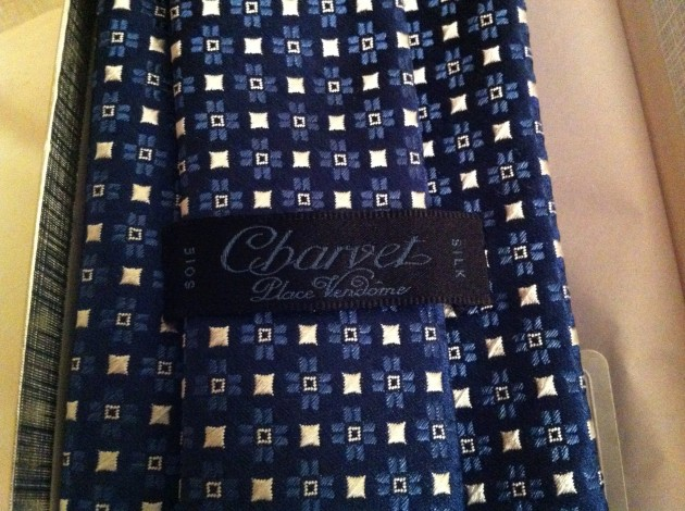 Back of Blue Charvet Tie