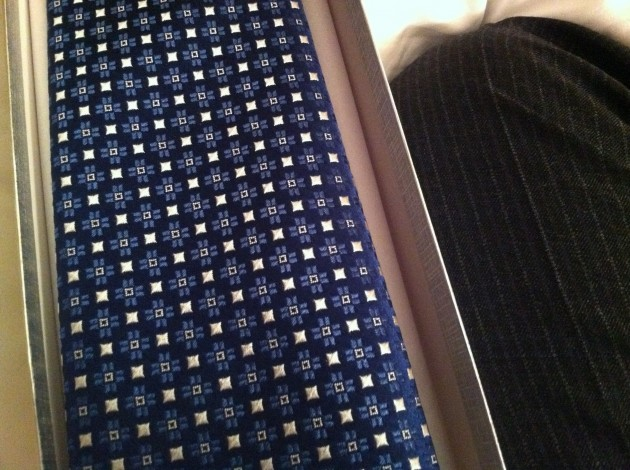 Front of Blue Charvet Tie