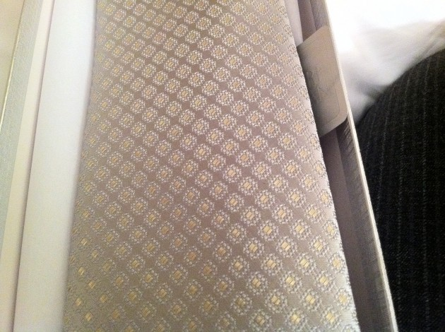 Front of Gold and Ivory Charvet Tie