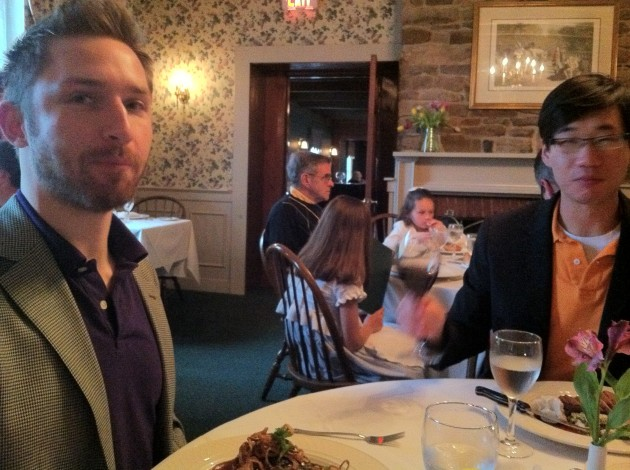 Jimmy and Aaron at Dinner