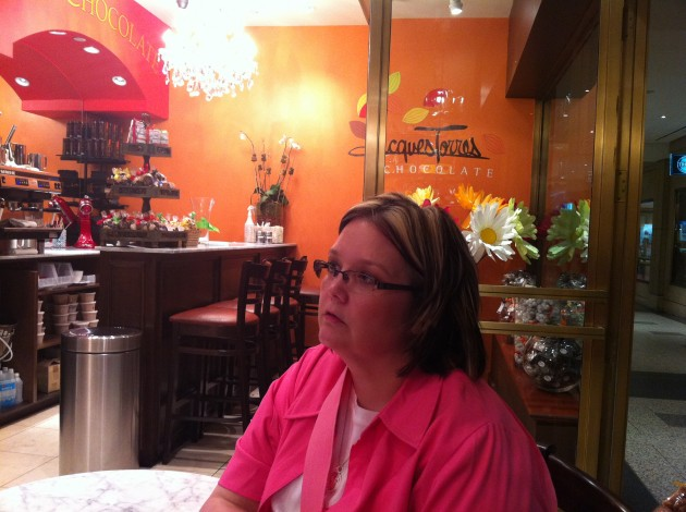 Mom at Jacques Torres Chocolates