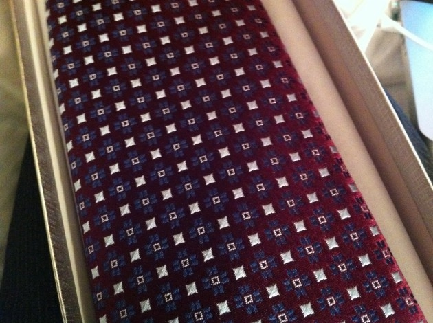 The Front of the Plum Charvet Tie