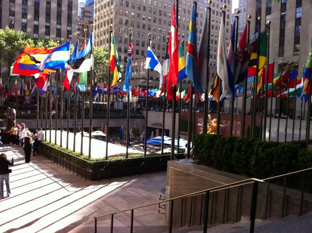 Rockefeller Center Flags