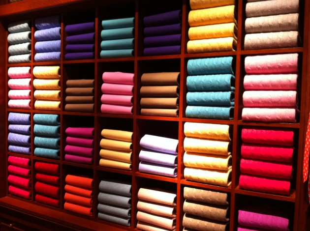 Wall of Cashmere Sweaters at Ralph Lauren