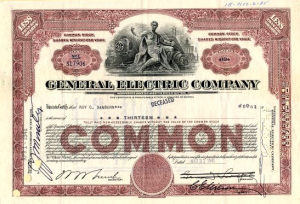 General Electric Stock from the 1940s