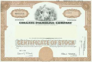 Colgate-Palmolive Stock Certificate
