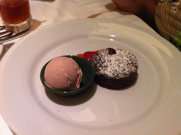 Valrhona Chocolate Cake from California Grill