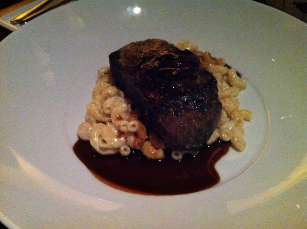 Filet Mignon from Jiko at Disney's Animal Kingdom Lodge Resort with Truffle Mac and Cheese
