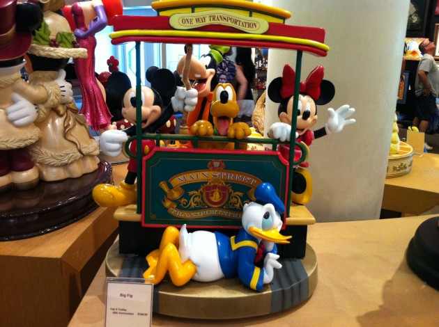 Mickey, Minnie, Pluto, Donald, and Goofy Collectible Streetcar Figurine