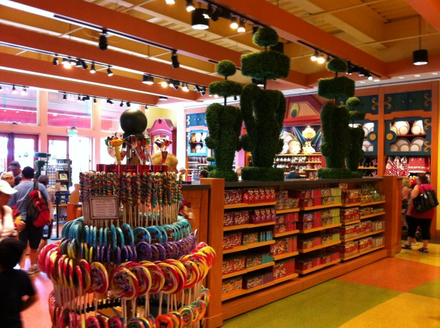 The World of Disney Kitchen and Candy Section