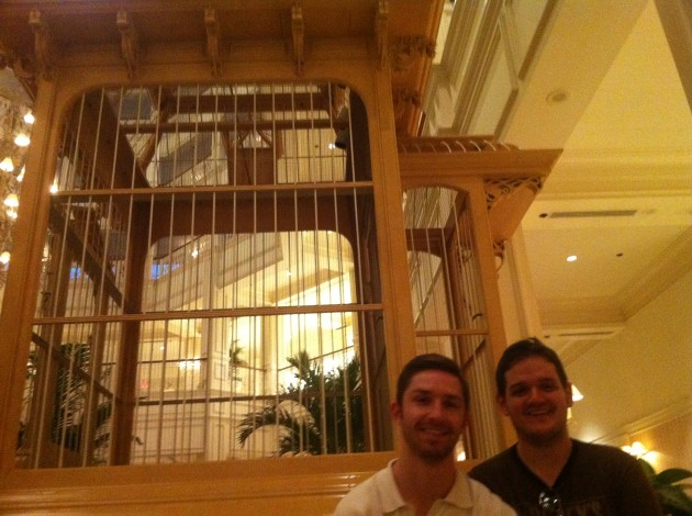 Aaron and Josh at Bird Cage in The Grand Floridian at Walt Disney World