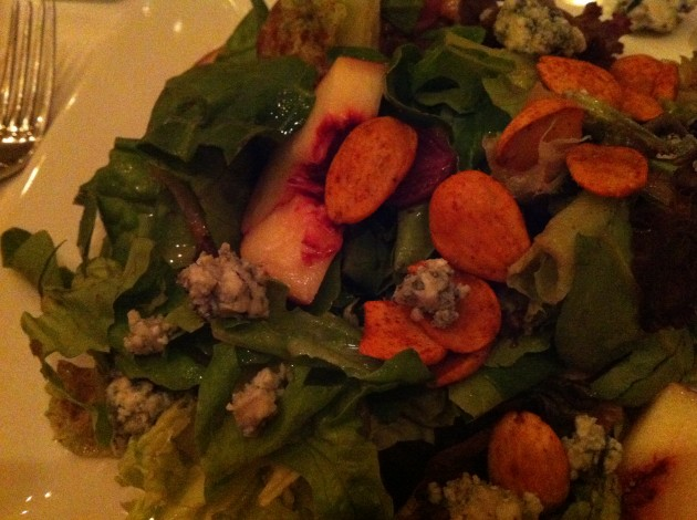 Artisanal Greens and Nectarine Salad from Citricos