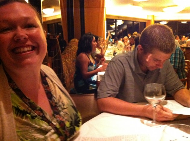 Ashly and Ian at The California Grill in Orlando, Florida