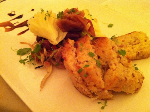 Brie Midnight Moon Prosciutto Cake Appetizer at The Brown Derby Restaurant in Walt Disney World Hollywood Studios