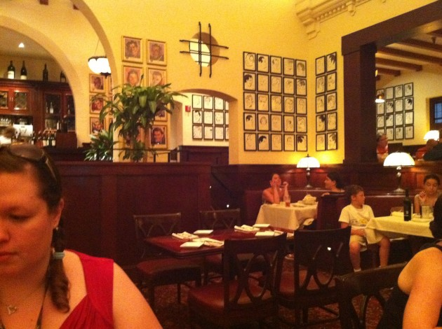 Another view from my seat at the Brown Derby in Hollywood Studios