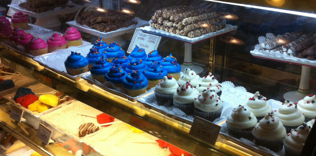 Closeup of Walt Disney World Cupcakes