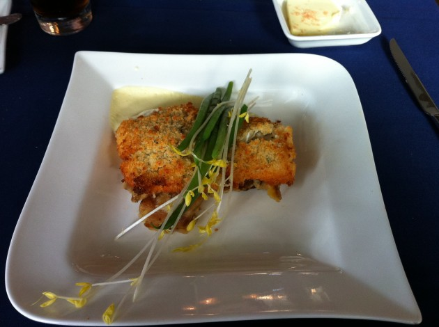 Crab Crusted Flounder from Narcoossee's