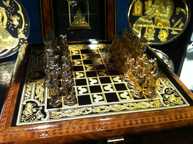 Gold Accented Walt Disney Chess Set
